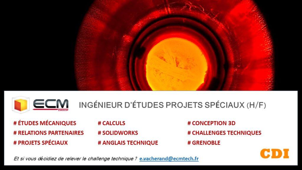 Ingenieur D Etudes Mecaniques Projets Speciaux Ecm